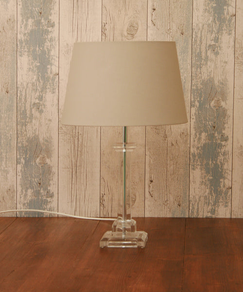 A 1970s Perspex table lamp