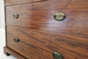 An Edwardian inlaid mahogany wardrobe with chest of drawers below