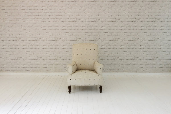A 19th century French armchair in hand woven Turkish wool