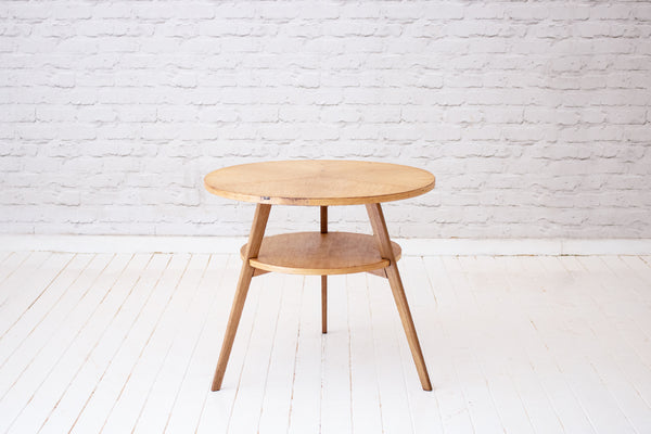 A retro two-tier round side table