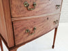 A Victorian three drawer dressing table
