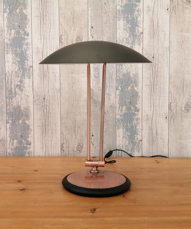 Black And Copper Table Lamp