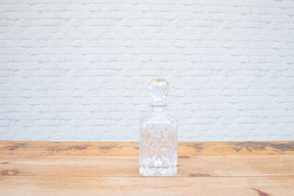 A Vintage cut glass decanter
