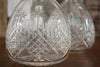 A beautiful pair of decanters with palm tree motifs