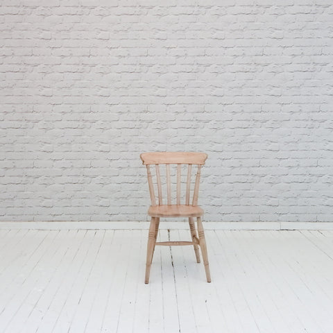 An English pine country kitchen chair