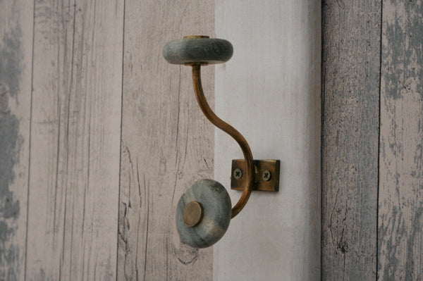 Naak Marble hook grey