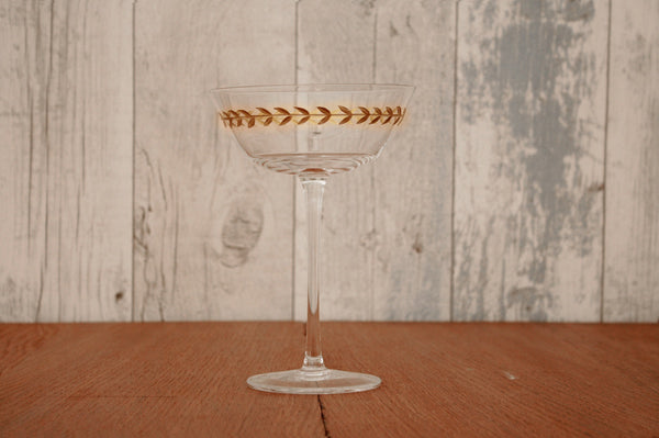 Gold Leaf Martini/Champagne Glass