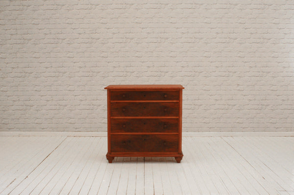 A 19th Century flamed mahogany chest of four drawers