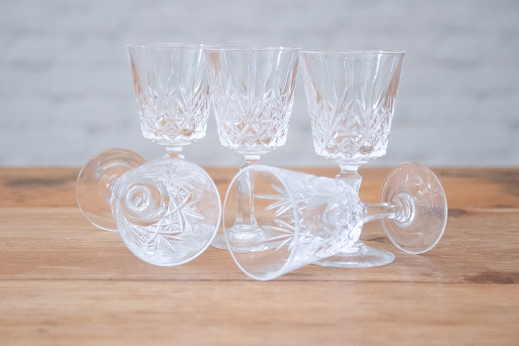 Brisley crystal sherry glasses (Set of 5)