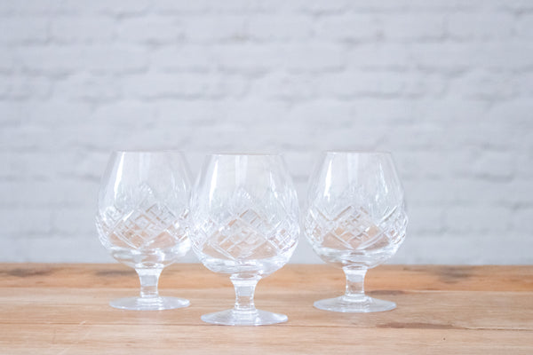 Brandy Balloon Glasses ( Set of 3 )