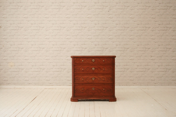 An antique mahogany chest of drawers