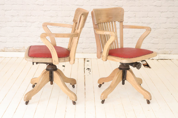 Vintage revolving desk chair