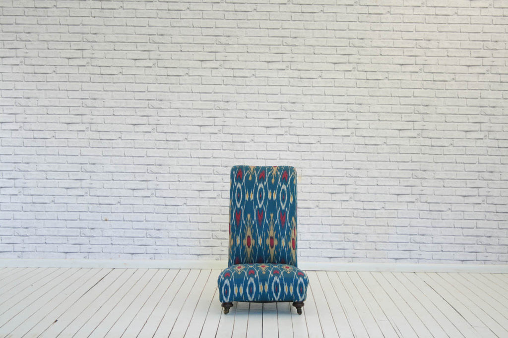 A 19th Century nursing /bedroom chair in Turkish Ikat