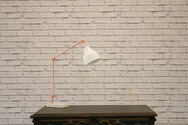 A contemporary desk lamp with white marble base/Desk lamp