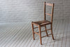 Rush seated kitchen chair