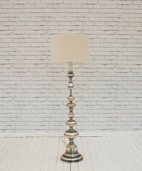 A Vintage 1960s Chrome Standing Lamp