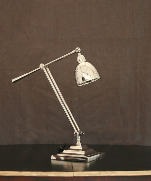 Nickel Angled Desk Lamp/Table lamp