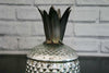 Silvered Glass Pineapple Jar