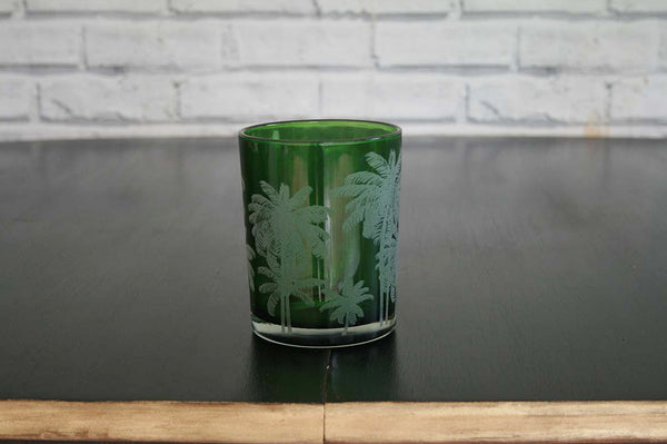 Small Green Palm T-Light Holder