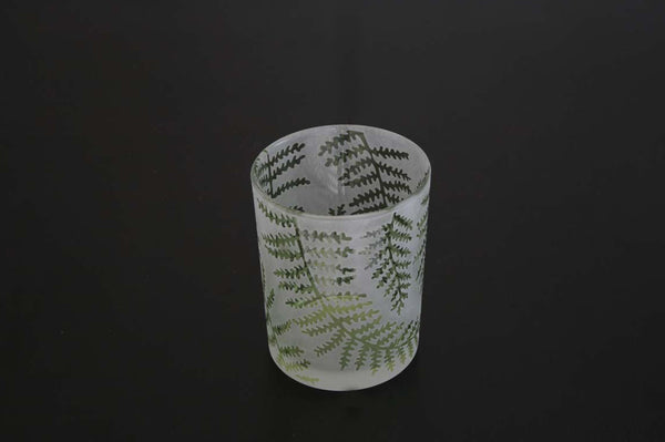 Green Fern Leaf T-Light Holder
