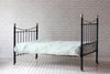 Victorian cast iron & brass double bed