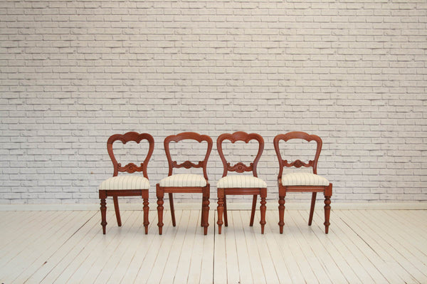 A (not quite) set of four Victorian dining room chairs