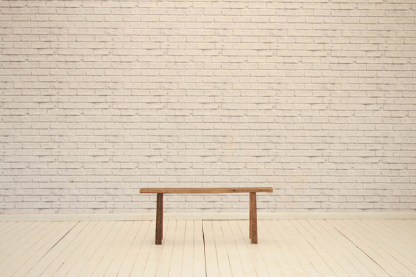 Contemporary Elm wood bench