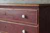 A 19th Century red painted pine chest of drawers