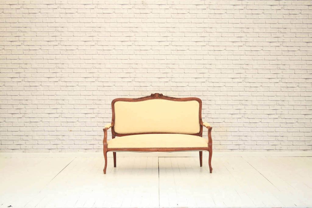 An elegant antique French sofa