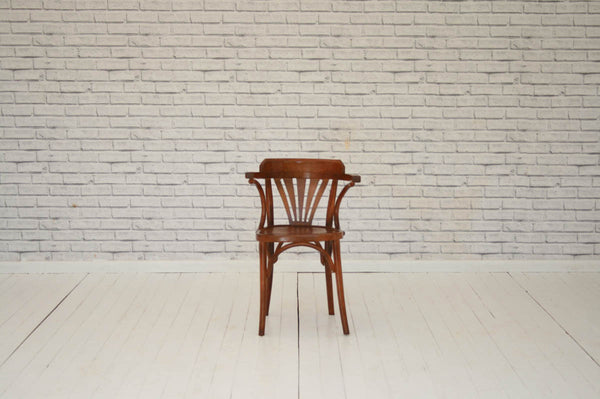 A vintage bentwood desk or kitchen chair
