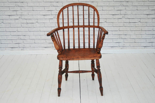 A 19th Century Windsor armchair / desk chair