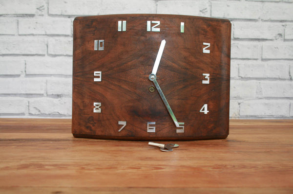 An Art Deco wall clock