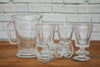 A set of six Dragon fly glasses and a pitcher