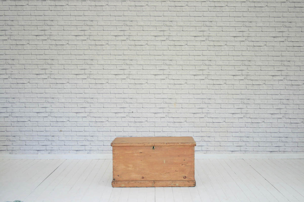 A Victorian pine trunk / blanket box/Coffee Table