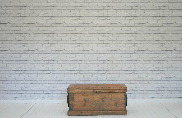 Victorian pine blanket box / trunk with metal unusual metal handles/Coffee Table