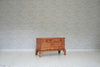 A Victorian pine blanket box on bracket feet / Trunk