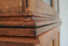 An English pine glass fronted book case