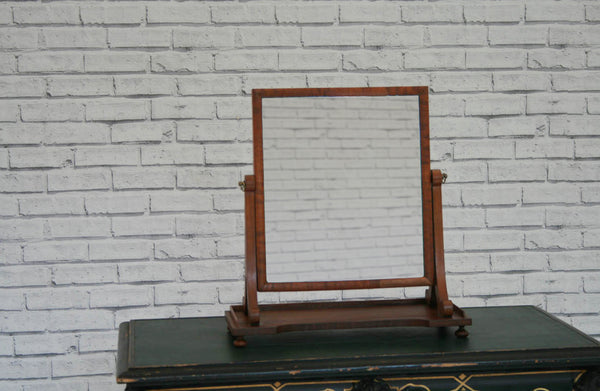 A Victorian pine table top dressing mirror