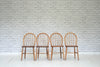 Four Ercol stick and hoop back dining / kitchen chairs