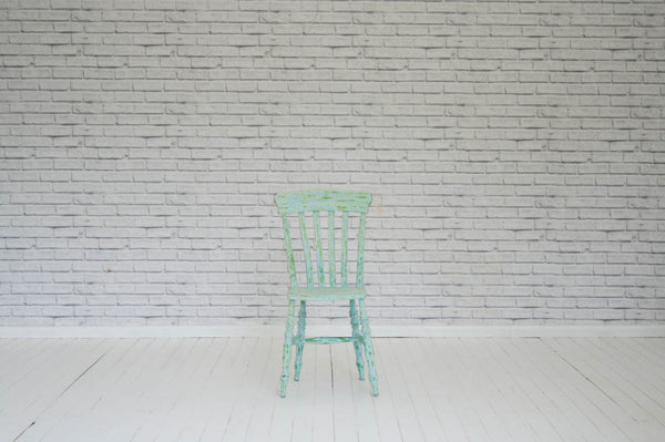 A Victorian slat back kitchen chair
