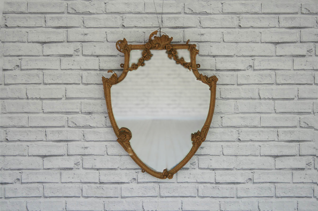 A vintage ornate mirror