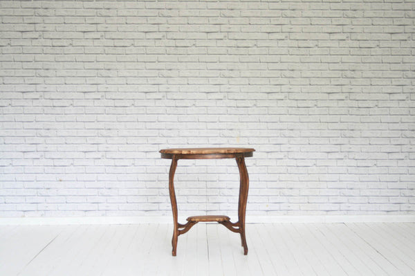 A Victorian mahogany two-tier side table