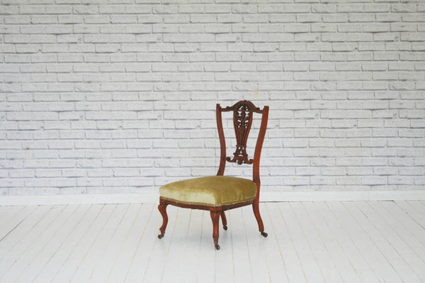 An ornate Edwardian nursing chair / bedroom chair