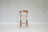 A Victorian beech bar back kitchen chair
