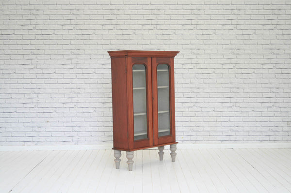 A Victorian mahogany cabinet on newly made turned & painted legs