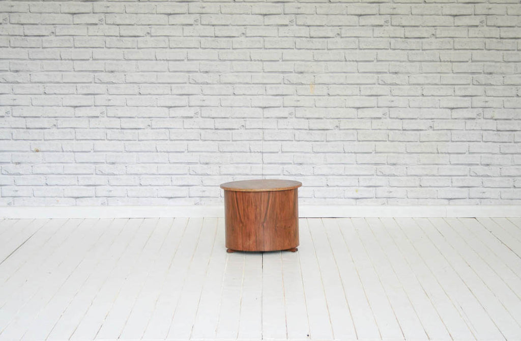 An Art Deco walnut side table / occasional table