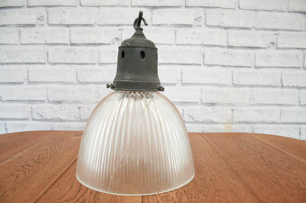 A fabulous French vintage cut glass pendant / ceiling lamp