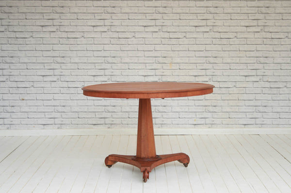 A Victorian mahogany tilt-top side table