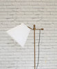 Brass finish adjustable floor lamp with shade