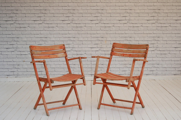 Shabby chic painted garden chairs